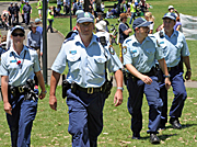 The Australian Police Force on duty around Sydney