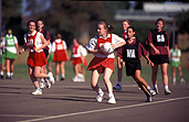 Netball is one of Australia's popular sports for young girls