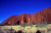 Ayers Rock, Australia's famous monolith in the Uluru National Park
