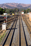 Australia, New South Wales, cootamundra, transport, transportation, vehicle, vehicles, train, trains, track, tracks, train track, train tracks, railway, railways, rail, station, stations, railway station, railway stations, CS34,