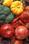 Food, fruit, Vegetable, vegetables, mixed Vegetable, vegetables, mixed fruit, pumpkin, pumpkins, broccoli, strawberry, strawberries, apple, apples, malus, brocolli.