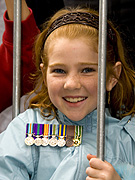 Australia, Australians, NSW, New South Wales, Sydney, People, child, children, girl, girls, female, females, fence, fences, Anzac, Anzacs, Anzac Day, Anzac Days, parade, parades, Anzac Day parade, Anzac Day parades, Anzac Day march, Anzac Day marches.