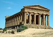 Italy, europe, agrigento, sicily, architecture, temple, temples, concord, temple of concord, pillar, pillars, column, columns, doric, BS65,