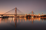 Australia, New South Wales, sydney, city, cities, architecture, bridge, bridges, anzac, anzac bridge.
