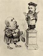 History, composer, composers, german, german composer, german composers, brahms, johannes, johannes brahms, music, Eduard Hanslick, hanslick, statue, statues, caricature, caricatures,