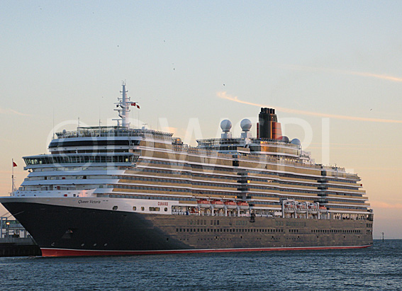 THE LUXURY CRUISE SHIP QUEEN VICTORIA DOCKED MELBOURNE
