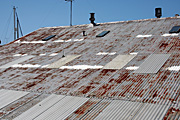 Australia, New South Wales, sydney, roof, roofs, rooves, rust, rusts, rusted, rusty, rusting, factory, factories.