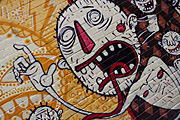 Graffiti, grafitti, deface, defaced, defacing, vandalism, vandalise, vandalisation, melbourne, vic, victoria, australia, alley, alleys, alleyway, alleyways, road, roads.