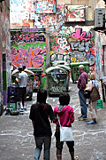 Graffiti, grafitti, deface, defaced, defacing, vandalism, vandalise, vandalisation, melbourne, vic, victoria, australia, alley, alleys, alleyway, alleyways, road, roads, people.