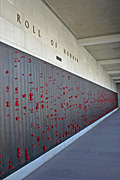 Australia, act, australian capital territory, territory, territories, Canberra, great dividing range, memorial, memorials, war memorial, war memorials, australian war memorial, wall, walls, roll of honour, honour, honours, poppy, poppies.