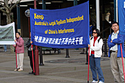 Australia, New South Wales, sydney, rally, rallies, olympics, sign, signs, chinese, protest, protests, protestors, protestors, law court, law courts, court, courts.