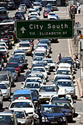 Australia, New South Wales, sydney, transport, traffic, sign, signs, traffic jam, traffic jams, congested, congestion, traffic congestion, car, cars, road, roads, sealed, sealed road, sealed roads.