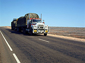 Transport, transportation, vehicle, vehicles, truck, Trucks, heavy vehicle, heavey vehicles, road train, road trains, roadtrain, roadtrains, outback, australian outback, outback australia, australia, nt, northern territory, outback, australian outback, outback australia, road, roads, sealed, sealed road, sealed roads, sign, signs.