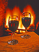 Glass, glasses, wine, wine glass, wine glasses, wine industry, industry, fire, fires, red wine