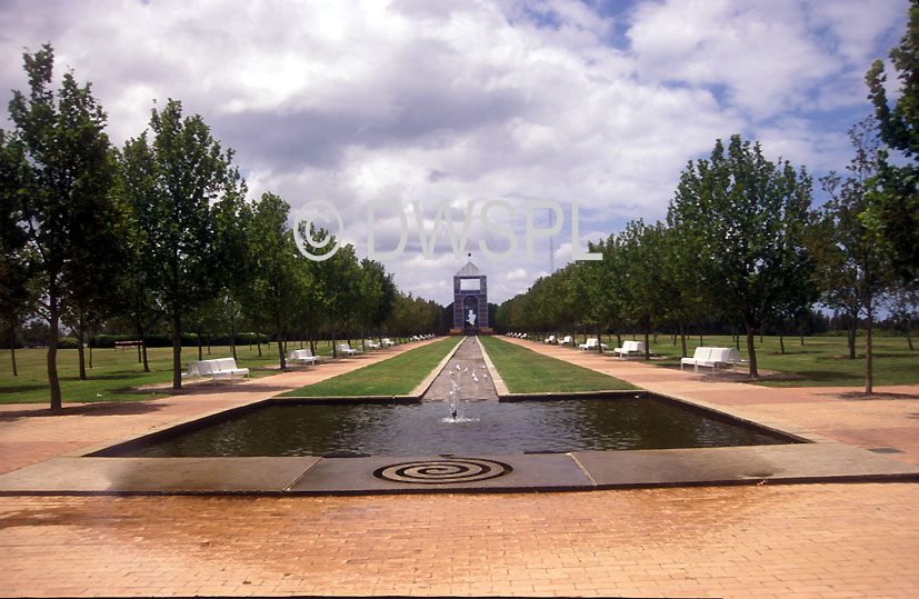 A ROYALTY FREE IMAGE OF VIEW DOWN CENTENERY PARK