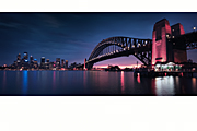 Australia, New South Wales, Sydney, Architecture, arch, arches, archway, archways, Sydney Harbour Bridge, Sydney Harbor Bridge, harbour bridge, bridge, bridges, mood, mood scene, mood scenes, sunset, sunsets, sunrises and sunsets.