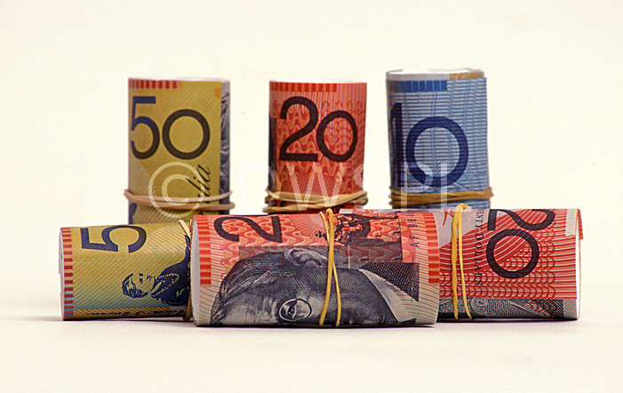A Royalty Free Image Of Rolls Of Australian Bank Notes