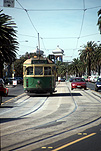 Australia, Victoria, Vic, Melbourne, Saint Kilda, St Kilda, tram, trams, transport, transportation, vehicle, vehicles, DF14,