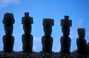 Easter Island, Chile, Latin America, Monolith, Monoliths, Ceremonial, Ceremonial site, Ceremonial sites, shrine, shrines, ceremonial shrine, ceremonial shrines, Historic site, Historic sites, megalithic, moais, sentinels, rano raraku, silhouette, silhouettes, awakena, statue, statues.