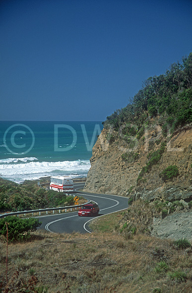 stock photo image: Australia, Vic, Victoria, Great Ocean Road, road ...