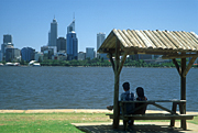 Australia, WA, Western Australia, Perth, water, people, couple, couples, roof, roofs, rooves, park, parks, FF25,