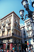 Europe, spain, barcelona, umbrella, umbrella building, architecture, la ramblas, FF25,