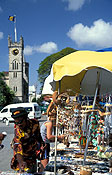 Caribbean, the caribbean, carribean islands, barbados, bridgetown, people, stall, stalls, market stall, market stalls, souvenir, souvenirs, people, umbrella, umbrellas, consumer product, consumer products, FF25,