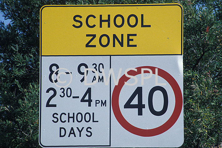 School zone school zones warning sign warning signs circle
