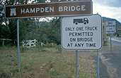 Australia, New South Wales, sydney, architecture, bridge, bridges, hampden, hampden bridge, sign, signs, truck, trucks, heavy vehicle, heavy vehicles.