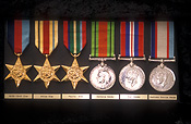Medal, medals, world war two, world war II, WWII, WWII medal, WWII medals, war medal, war medals, ribbon, ribbons, bravery medal, bravery medals, bravery award, bravery awards, africa star, pacific star, defence medal, defence medals, australia service medal.