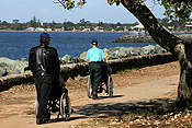 Australia, people, disabled, disabled people, handicapped, handicapped people, man, men, male, males, wheelchair, wheelchairs.