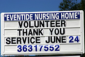 Australia, sign, signs, nursing home, nursing homes, qld, brighton, volunteer, volunteers.