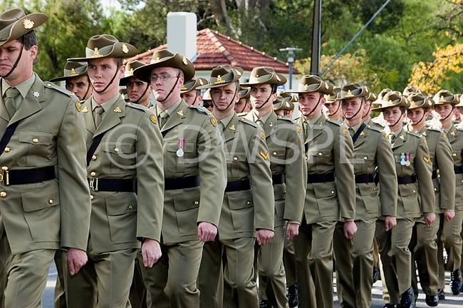 AUSTRALIAN ARMY ON PARADE, ADELAIDE, SOUTH AUSTRALIA
