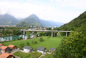 Europe, Switzerland, Swiss, Interlaken, ringgenberg, house, houses, housing, bridge, bridges.