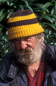 People, man, men, male, males, portrait, portraits, homeless, homeless people, homeless man, homeless men, derelict, derelicts, australia, sydney, nsw, new South Wales, hat, hats, beard, beards, alcoholic, alcoholics, hat, hats.