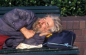 People, man, men, male, males, homeless, homeless people, homeless man, homeless men, derelict, derelicts, australia, sydney, nsw, new South Wales, bench, benches, sleep, sleeps, sleeping, asleep, alcoholic, alcoholics, beard, beards.